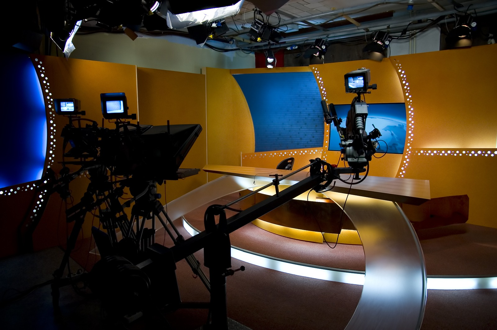 bigstock-Tv-Studio-And-Lights-2336019